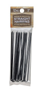 7.6cm Inch Straight Stainless Steel Heavy Duty Snagless Hairpins Pack of 12 Handmade Hair Pin