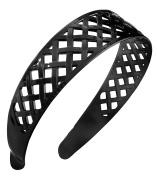 France Luxe Belle Wide Woven Headband - Black