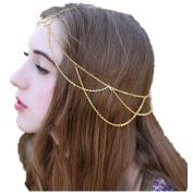 Datework Women Tassels Head Jewellery Chain Headband