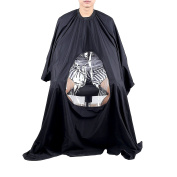 New Durable Nylon Hair Cut Hairdressing Hairdressers Barbers Cape Gown with a Clear Window Doubtless Bay