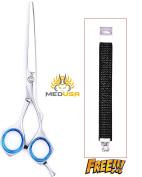 Professional 15cm Slim Model Polish Japanese Stainless Steel Barber Razor Edge Hair Cutting Shear Scissor With Free Bracelet
