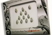 Bindi Crystals in Silver Tear Drop Bindis.