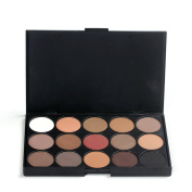 PhantomSky 15 Colours Eyeshadow Makeup Palette Cosmetic Contouring Kit - Perfect for Professional and Daily Use