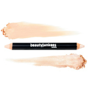 Brow Concealer & Highlighter Duo Pencil Crayon Cool Beige, Matte and Shimmer Eyebrow Shaper, Paraben Free, Gluten Free, Made in the USA
