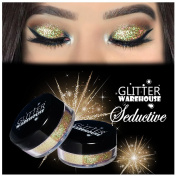 GlitterWarehouse Light Gold Holographic Cosmetic Loose Glitter Powder for Eyeshadow, Makeup, Nail Art, Body Tattoo