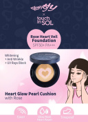 TouchinSOL rose heart veil foundation / SPF50+ PA+++ / MAKE UP base / korean make up tools / foundation / korean beauty cosmetic