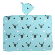 Baby Boy Girl Deer Swaddle Blanket Coming Home Bath Towle