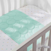 Soft, Breathable Wick Dry Plush Sheet Saver in Aqua Mist