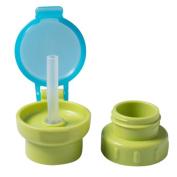 "SZTARA Portable Water Prevent Choking Straw Cover Children Kids Spill-Proof Anti-choke Bottled Drinks Spill Proof Lid Straw Choke Green 4cm×3.5cm/1.57""×1.38"""