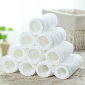 Ioffersuper 10Pcs Novel Baby Cotton Cloth Diaperborn Nappy Liners Insert 3 Layers
