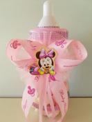 Minnie Mouse Centrepiece Bottle Large 36cm Baby Shower Piggy Bank Girl Decoration