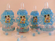 12 Baby Mickey Mouse Fillable Bottles Baby Shower Favours Prizes ~Boy Decorations