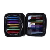Circular Knitting Needle Set, 13 Sizes Interchangeable Aluminium Circular Knitting Needle Set 2.75mm-10mm with Case