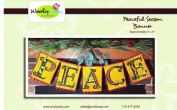 Peaceful Season Banner Wool Applique Kit From WoolyLady 23cm x 80cm