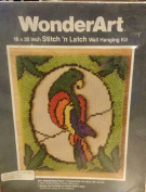 Wonderart Stitch N Latch Wall Hanging Kit Stained Glass Parrot 4913