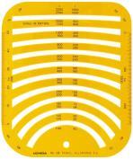 Uchida template No.108 circumference ruler 1-843-0108