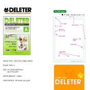 Deleter Comic Manga Paper [Ruled Type A] [110kg] [Size A4 21cm x 30cm ] [40-page Pack]