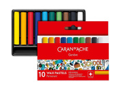 Caran d'Ache 7002.710 School Line Permanent Crayons with 10 Colours