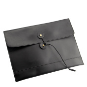 men woman pu leather multifunction office documents bags A4 paper file pouch envelope bag conference