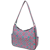 Geometric Themed NGIL Quilted Hobo Fashion Bag
