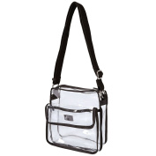 NFL Stadium Approved Clear Shoulder Messenger Bag - Medium Transparent Purse