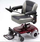 Merits Health Products - EZ-GO- Travel Power Chair - 46cm W x 38cm D - Red