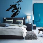 Wall Decal Sticker Bedroom snowboarding winter sport snow boys teenager room 265b