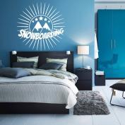 Wall Decal Sticker Bedroom snowboarding mountains winter sport boys teenager room 225b