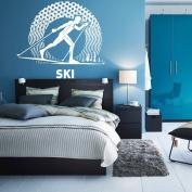 Wall Decal Sticker Bedroom ski winter sport mountains boys teenager room 217b