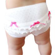 JIEYA 2-Pack Baby Toddler Underwear Girls Solid Bow-knot Layered Briefs