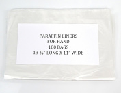 Plastic Paraffin Liners for Hand 100 Bags