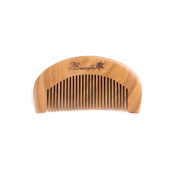 Breezelike Hair and Beard Comb with Premium Gift Box - No Static Mini Size Sandalwood Pocket Fine Tooth Comb
