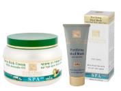 H & B Dead Sea Extra rich Body Cream Avocado Oil & Purifying Mud Mask with Aloe Vera