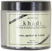Khadi Natural Herbal Handmade Rose, Apricot, and Walnut Facial Cream Scrub