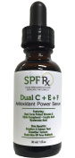 SPF Rx Dual C + E + F Antioxidant Power Serum with Dual Form Potent Vitamin C, Alpha Tocopherol, Ferulic Acid, Hyaluronic Acid for Brighter, Calmer Tone, Smoother Texture, 30ml