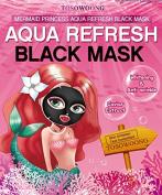 TOSOWOONG Mermaid princess Aqua refresh black mask (10 sheets) / Health & Beauty / Skin Care / Moisturisers / Mask sheet / essence mask / korean beauty cosmetic