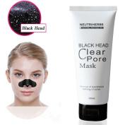 NEUTRIHERBS Black Mask, Deeply Cleanser Tightening Friming Blackhead Removal 100ML