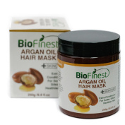 Biofinest Argan Oil Hair Mask - with 100% Organic Jojoba Oil, Aloe Vera, Keratin - Deep Conditioner for Dry/ Damaged/ Colour Treated Hair