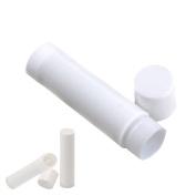 Lip Balm Containers - Lip Balm Stick Tubes - Cosmetic Containers Lip Balm - PBA Free Lip Balm Empty Tubes (50 Tubes, White) for DIY Lip Balm Kit