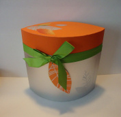 Fruits & Passion 5 pc ORANGE CANTALOUPE Gift Set (Body Butter/Shower Gel/Eau de Toilette/Shower Puff/Box) Made in Canada