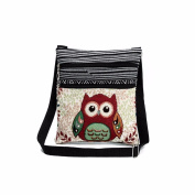 AutumnFall Embroidered Owl Tote Bags Women Shoulder Bag Handbags Postman Package