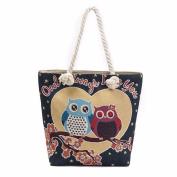 AutumnFall Owl Printed Tote Bags Women Shoulder Bag Handbags Shopping Bag
