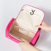 Wisdompark Hanging Toiletry Bag & DOPP Kit for Travel Accessories & Makeup ,Portable Women Makeup Cosmetic Bags