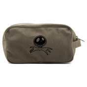 Jack Nightmare Before Christmas Bat Dual Two Compartment Toiletry Dopp Kit Bag