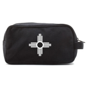New Mexico Symbo Canvas Dual Two Compartment Travel Toiletry Dopp Kit Bag