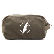 Flash Comic Superhero Canvas Dual Two Compartment Travel Toiletry Dopp Kit Bag