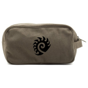 Starcraft Zerg Canvas Dual Two Compartment Travel Toiletry Dopp Kit Bag
