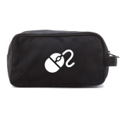 Computer mouse Canvas Dual Two Compartment Travel Toiletry Dopp Kit Bag