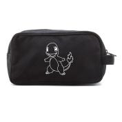 Pokemon Charmander Canvas Dual Two Compartment Travel Toiletry Dopp Kit Bag