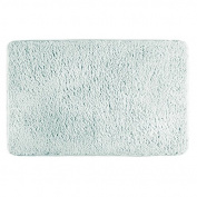 mDesign Soft Microfiber Polyester Non-Slip Rectangular Fuzzy Mat, Extra-Plush Water Absorbent Accent Rug for Bathroom Vanity, Bathtub/Shower, Machine Washable - 90cm x 50cm - Light Aqua Blue